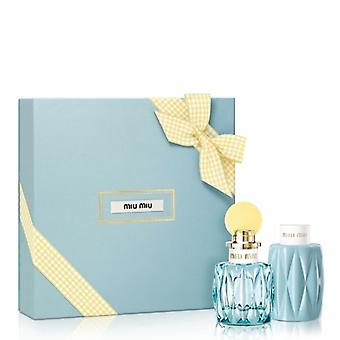 Miu Miu L'Eau Bleue Eau de Parfum Spray 50ml Cadeauset