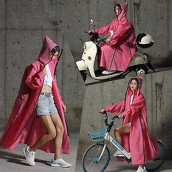 Zipper Hooded Poncho Motorcycle Rainwear - Long Style Hiking Poncho