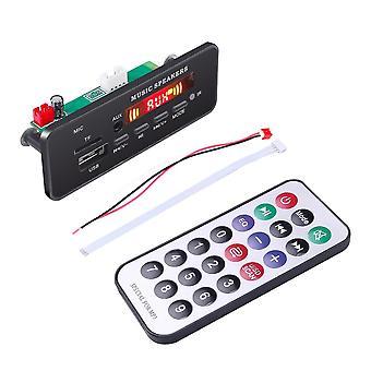 נגן שלט רחוק לוח מפענח Wma אלחוטי - 12v Bluetooth 5.0 USB Fm