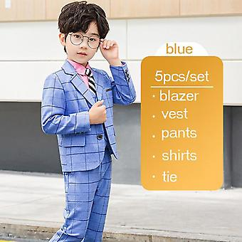 Children's Formal 4pcs Suit Sets - Wedding Party, Prom, Birthday Dress Costume