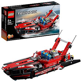 Lego 42089 technic power boat toy, 2 in 1 hydroplane speedboat model building set for 8+ years old b