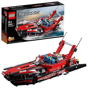 Lego 42089 technic power boat speelgoed, 2 in 1 hydroplane speedboot model bouw set voor 8 + jaar oud b