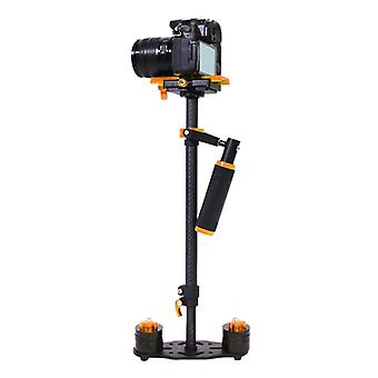 YELANGU S60T 38.5-61cm Carbon Fiber Handheld Stabilizer for DSLR & DV Digital Video & Cameras, Capacity Range 0.5-3kg(Orange)