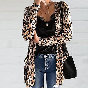 Leopard Print Long Cardigan
