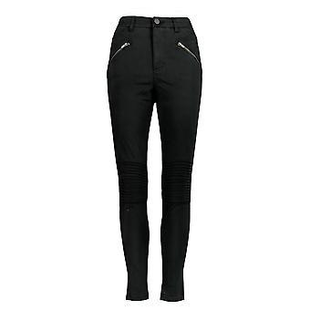 Rachel Hollis Ltd Women's Pants Moto Style w/ Pockets Black A368012