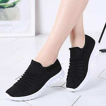 Summer Breathable Flying Weaving Casual Shoes, Slip-on Creepers Moccasins