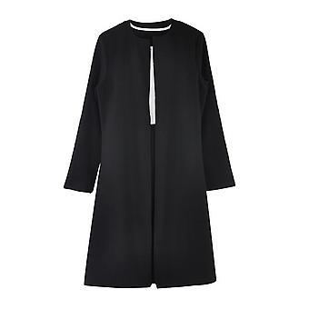 Femmes Long Blazer Gaine O-neck Mini Office Costumes vestimentaires formels