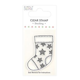 Simply Creative Stocking Clear Stamp