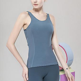 Damer Slim Yoga Fitness Sport Topp Q82