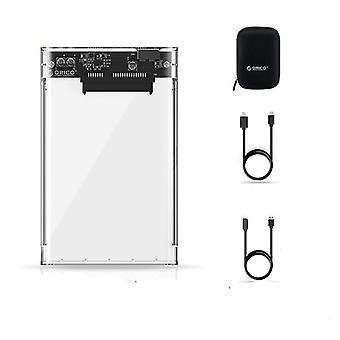 Hdd Case Transparent, Sata auf Usb 3.0 Adapter, externes Festplattengehäuse