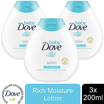 Baby Dove Rich Moisture Fragrance Free Body Lotion, 3 Pack van 200ml