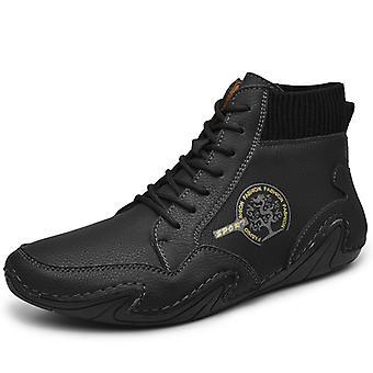 Hombres High Top Zapatos Casual 8899 Negro