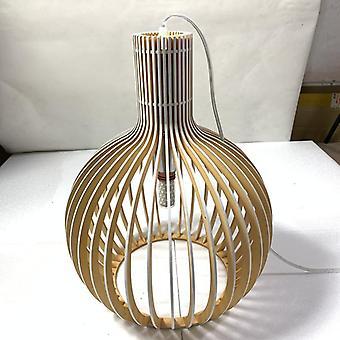 Moderni bambu kudonta, puinen lintuhäkki riipus, valot lamppu