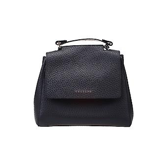 Orciani B01999softnero Women's Black Leather Handbag