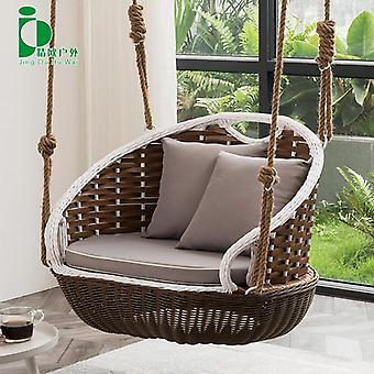 Outdoor Balcony Glider Double Hanging Basket