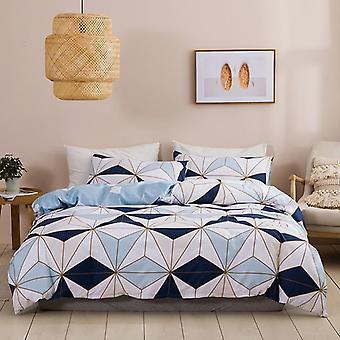 3d Geometric Printed Duvet Cover Set
