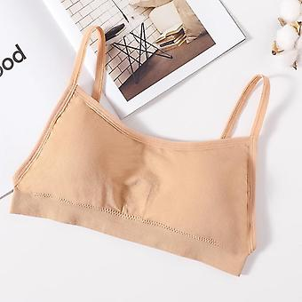Female Streetwear Sleeveless Camis Seamless Sports Lingerie Tee Bra Crop Top