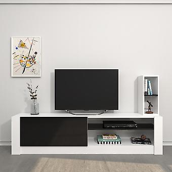 Mobile Porta TV Gomez Colore Bianco, Nero in Truciolare Melaminico, L180xP30xA43 cm