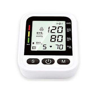 Lcd digital sphygmomanometer electronic blood pressure monitor arm automatic blood pressure monitor pulse heart beat rate meter