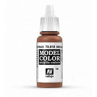 Vallejo Model Color 17ml Acrylic Paint - 818 Red Cuir