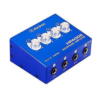 Alctron 4-kanavainen kannettava stereokuulokevahvistin mini kuuloke jako vahvistin trs / rca kuulokkeet liitäntä (us plug)