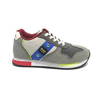 Shoes Blauer Sneaker Dash In Ecosuede/ Nylon Grigio Zs21bu02 S1dash02