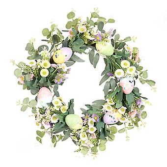 Fall Colorful Wreath Artificial Daisy Spring Flower Wreath For Front Door Home Decoration