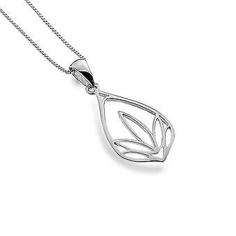 Sterling Silver Pendant Necklace - Origins Lotus Leaf