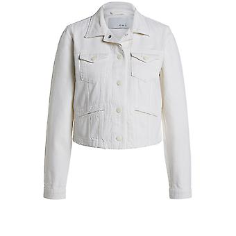 Oui Off White Denim Jacket