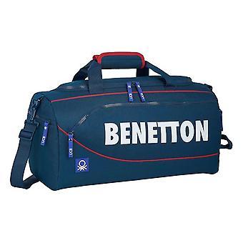 Sports bag Benetton Navy Blue (25 L)