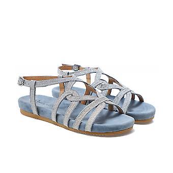 Alma en Pena Suede Twisted Strap Sandals