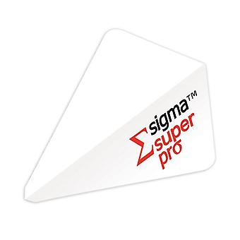 Unicorn Darts Sigma.100 Super Pro Shape Micron Dart Flight - White