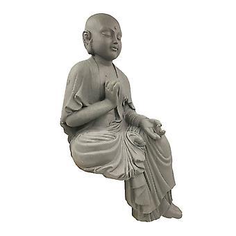 Sitting Buddha Monk Ladder Large 54x29 CM