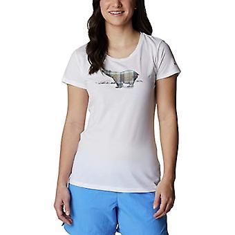 Columbia Daisy Days, Naisten lyhythihainen T-paita, Valkoinen, Karhugrafiikka, L