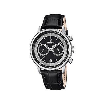 Festina Herren-Armbanduhr Analog Quartz Leder F16893/8