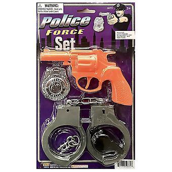 Politimannen politimann Cop FBI gutter kostyme Pistol håndjern merke fløyte Kit