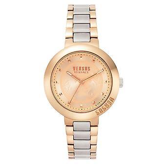 対ヴェルサーチ VSPLJ0719 女子ツートーンバティニョール腕時計