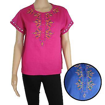 Antik Batik Womens 'Assini' Henley Tee Shirt