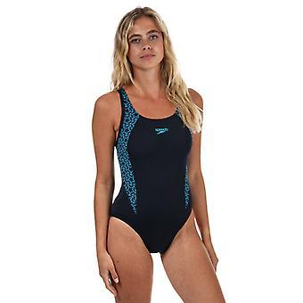 Women: n Speedo Boomstar Splice Flyback uimapuku sininen