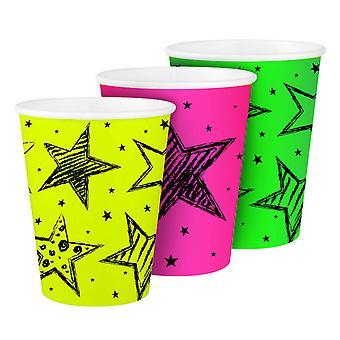 Neon Party Cups, 6pcs.