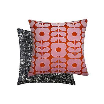 Flower Stem Velvet Cushion In Paprika By Orla Kiely