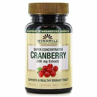 Windmill Health Super Concentrated Cranberry, 500 mg, 30 Caps