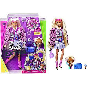Brabie Extra Doll en coleta larga rubia con cachorro de mascota