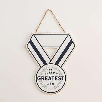 World's Greatest Dad Holzmedaille Plakette