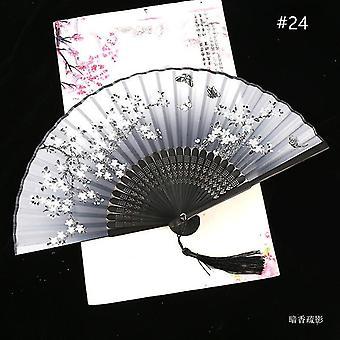 Chinesische Vintage Stil Falten Fan Kunst Handwerk Geschenk Tanz Hand Fan Home Decoration Ornamente(#24)