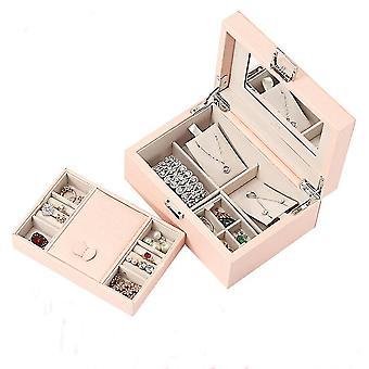 Jewelry Storage Box Wood With Lock Necklace Earring Box Jewelry Organizer Display Case