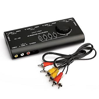 AV Audio Video Signal Switcher 4 Input 1 Output Switch Video System for XBOX for ps1