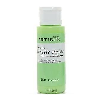 Soft Green docrafts Artiste All Purpose Acrylic Craft Paint - 59ml