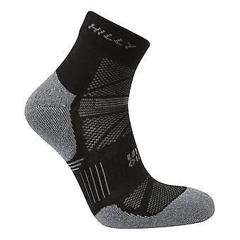Hilly Supreme Anklet Socks - Black/Grey Marl