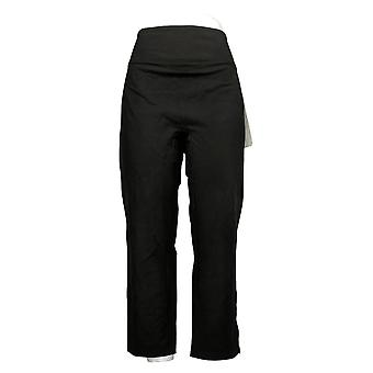 Vrouwen met Control Women's Petite Pants Tummy Control Slim Leg Zwart A391212
